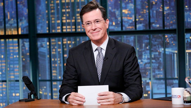 This Week's 'Late Show with Stephen Colbert' Guests: Rachel Maddow; Kevin Spacey; Robin Wright