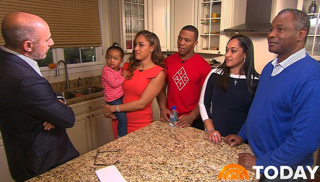 'Today Show' (Dec. 1): Ray and Janay Rice; Jill's Shopping Bag; Idina Menzel Performs