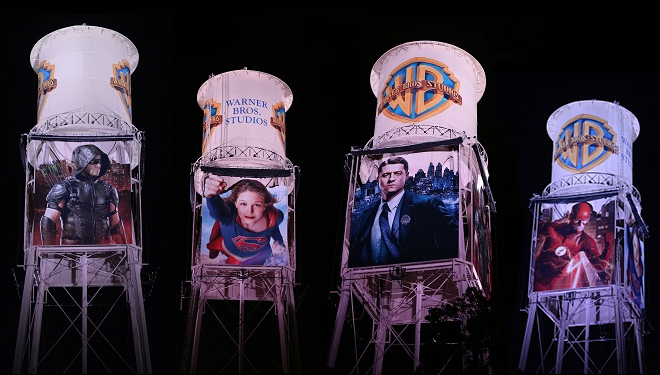 Warner Bros. Gives Iconic Water Tower a Superhero Makeover